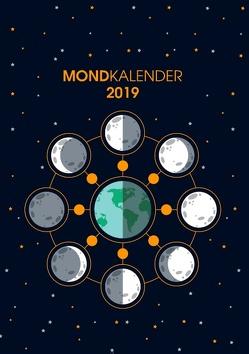 Der Monkalender 2019 – Terminplaner und Terminkalender mit Mondphasen von Bock,  Martin
