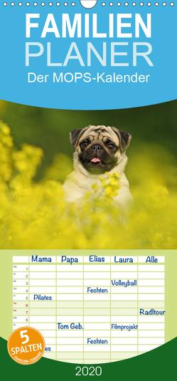 Der MOPS-Kalender – Familienplaner hoch (Wandkalender 2020 , 21 cm x 45 cm, hoch) von Köntopp,  Kathrin