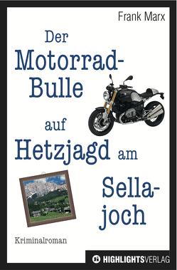 Der Motorradbulle auf Hetzjagd am Sellajoch von Marx,  Frank