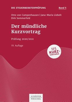 Der mündliche Kurzvortrag von Campenhausen,  Otto, Liebelt,  Jana-Maria, Sommerfeld,  Dirk