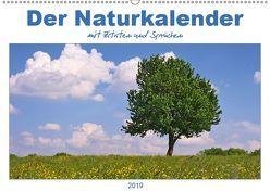 Der Naturkalender mit Zitaten und Sprüchen (Wandkalender 2019 DIN A2 quer) von DESIGN Photo + PhotoArt,  AD, Dölling,  Angela