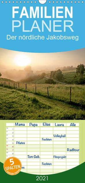 Der nördliche Jakobsweg – Familienplaner hoch (Wandkalender 2021 , 21 cm x 45 cm, hoch) von Hecker,  Rolf