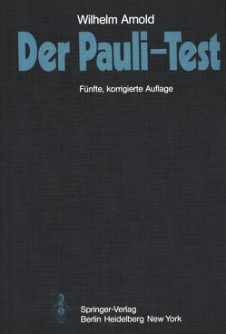 Der Pauli-Test von Arnold,  W.