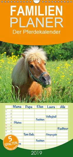 Der Pferdekalender – Familienplaner hoch (Wandkalender 2019 , 21 cm x 45 cm, hoch) von DESIGN Photo + PhotoArt,  AD, Dölling,  Angela