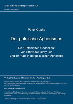 Der polnische Aphorismus von Krupka,  Peter