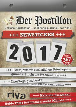 Der Postillon +++ Newsticker +++ 2017 von Sichermann,  Stefan