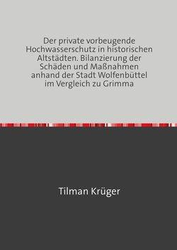 Der private vorbeugende Hochwasserschutz in historischen Altstädten. Bilanzierung der Schäden und Maßnahmen anhand der Stadt Wolfenbüttel im Vergleich zu Grimma von Krüger,  Tilman
