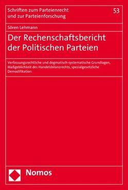 Der Rechenschaftsbericht der politischen Partei von Lehmann,  Sören