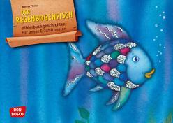 Der Regenbogenfisch, m. schillernden Schuppen. Kamishibai Bildkartenset. von Pfister,  Marcus