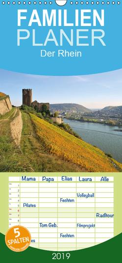 Der Rhein. Oberes Mittelrheintal von Bingen bis Koblenz – Familienplaner hoch (Wandkalender 2019 , 21 cm x 45 cm, hoch) von LianeM