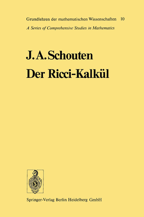 Der Ricci-Kalkül von Schouten,  Jan Arnoldus