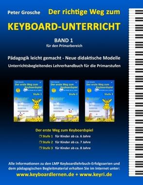 Der richtige Weg zum Keyboard-Unterricht – Band 1 von Grosche,  Peter