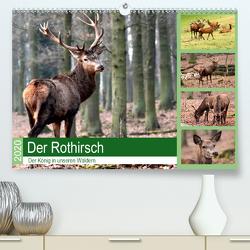 Der Rothirsch – Der König in unseren Wäldern (Premium, hochwertiger DIN A2 Wandkalender 2020, Kunstdruck in Hochglanz) von Klatt,  Arno
