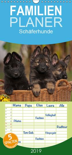 Der Schäferhunde Familienplaner hoch (Wandkalender 2019 , 21 cm x 45 cm, hoch) von Mauersberger,  Tina