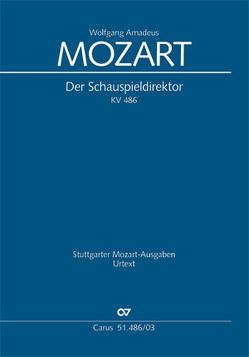 Der Schauspieldirektor (Klavierauszug) von Mozart,  Wolfgang Amadeus