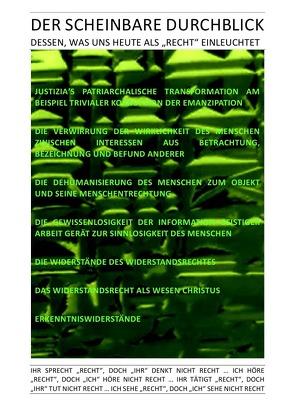 """DER GNADENLOSE GLAUBE / DER SCHEINBARE DURCHBLICK DESSEN, WAS UNS HEUTE ALS """"RECHT"""" EINLEUCHTET von BRAEG,  BASTIAN, Brinkmichel,  Carlus, Hohndeuter,  Albert Albrecht, Selsheim,  Pelwer"""