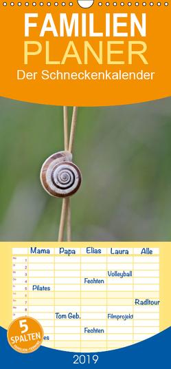 Der Schneckenkalender – Familienplaner hoch (Wandkalender 2019 , 21 cm x 45 cm, hoch) von Schmutzler-Schaub,  Christine