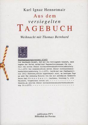 """Der """"Schrieb"""" von Hennetmair,  Karl, Pils,  Richard"""