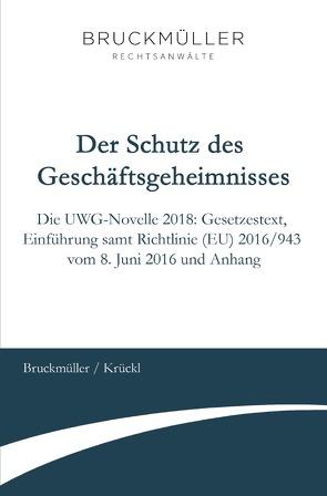 Der Schutz des Geschäftsgeheimnisses von Bruckmüller,  Georg, Krückl,  Karl