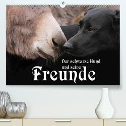 Der schwarze Hund und seine Freunde (Premium, hochwertiger DIN A2 Wandkalender 2021, Kunstdruck in Hochglanz) von Gsödl,  Michael