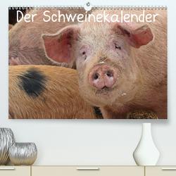 Der Schweinekalender (Premium, hochwertiger DIN A2 Wandkalender 2021, Kunstdruck in Hochglanz) von Schmutzler-Schaub,  Christine