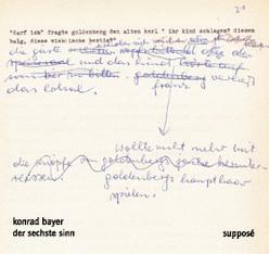 Der Sechste Sinn von Bayer,  Konrad, Sander,  Klaus