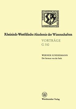 Der Sermon von der Seele von Sundermann,  Werner