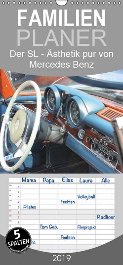 Der SL – Ästhetik pur von Mercedes Benz – Familienplaner hoch (Wandkalender 2019 , 21 cm x 45 cm, hoch) von Lantzsch,  Katrin