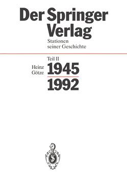 Der Springer-Verlag von Götze,  Heinz