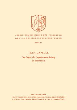 Der Stand der Ingenieurausbildung in Frankreich von Capelle,  Jean