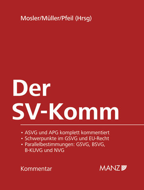 Der SV-Komm von Mosler,  Rudolf, Müller,  Rudolf, Pfeil,  Walter J.