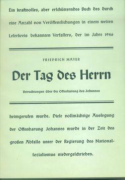 Der Tag des Herrn von Mayer,  Friedrich