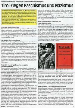 Der Tiroler – Gegen Faschismus und Nazismus von Andergassen,  Günther, Hartung,  Erhard, Kienesberger,  Peter, Mitterhofer,  Sepp