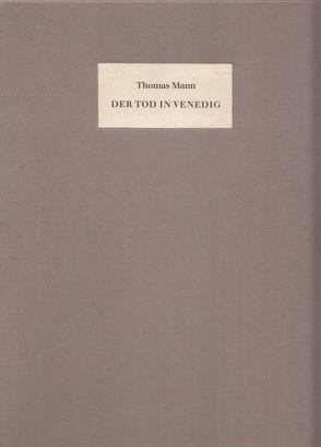 Der Tod in Venedig von Mann,  Thomas, Werres,  Helmut