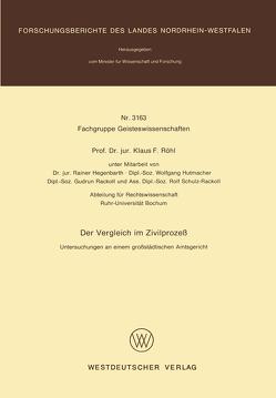 Der Vergleich im Zivilprozeß von Röhl,  Klaus F