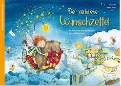 Der verlorene Wunschzettel. Ein Poster-Adventskalender zum Vor- und Selberlesen von Jäckel,  Karin, Walter,  Naeko