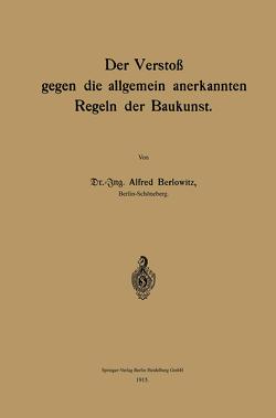 Der Verstoß gegen die allgemein anerkannten Regeln der Baukunst von Berlowitz,  Alfred