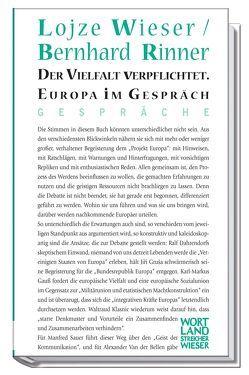 Der Vielfalt verpflichtet von Rinner,  Bernhard, Wieser,  Lojze