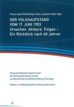 Der Volksaufstand vom 17. Juni 1953 von Schlichting,  Franz-Josef, Veen,  Hans-Joachim