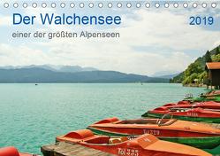 Der Walchensee – einer der größten Alpenseen (Tischkalender 2019 DIN A5 quer) von Hahn,  Joachim