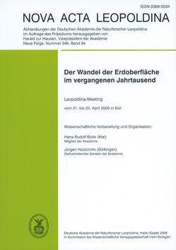 Der Wandel der Erdoberfläche im vergangenen Jahrtausend von Bork,  Hans-Rudolf, Hagedorn,  Jürgen