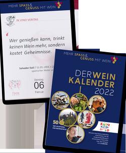 DER WEINKALENDER 2022 von Eser,  Markus J.