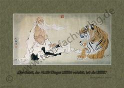 """""""Der Weise unterrichtet den Tiger"""" von Shen Mei – 沈梅"""