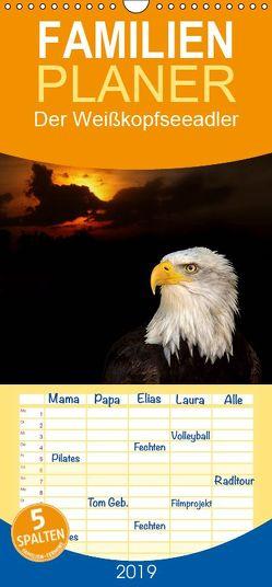 Der Weißkopfseeadler – Familienplaner hoch (Wandkalender 2019 , 21 cm x 45 cm, hoch) von Klatt,  Arno