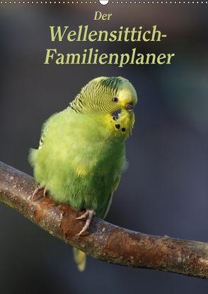 Der Wellensittich-Familienplaner (Wandkalender 2018 DIN A2 hoch) von Lindert-Rottke,  Antje