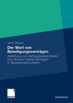 Der Wert von Beteiligungsverträgen von Simon,  Jens