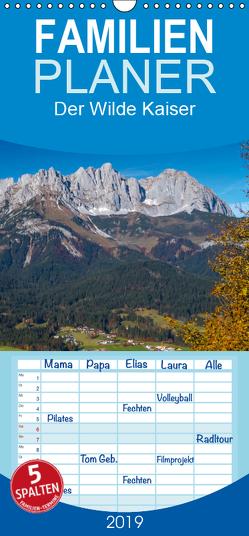 Der Wilde Kaiser, das Kletterparadies bei Kitzbühel – Familienplaner hoch (Wandkalender 2019 , 21 cm x 45 cm, hoch) von Überall,  Peter