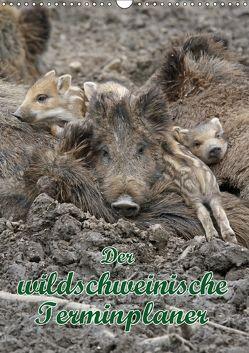 Der wildschweinische Terminplaner (Wandkalender 2018 DIN A3 hoch) von Lindert-Rottke,  Antje