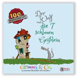 Der Wolf und die 7 schlauen Geißlein Märchenlern- und Bastelbuch von Lebsuch,  Bianka