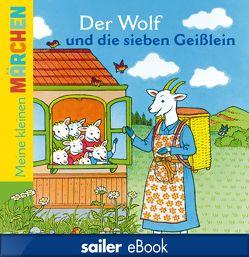 Der Wolf und die sieben Geißlein von Grimm,  Jacob, Grimm,  Wilhelm, Krömer,  Stefanie, Moreau,  Camille, Theinhardt,  Volker